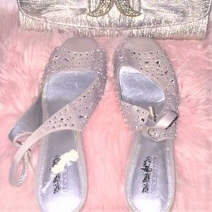 Coach and Four Jewel Sling Back Kitten Heels